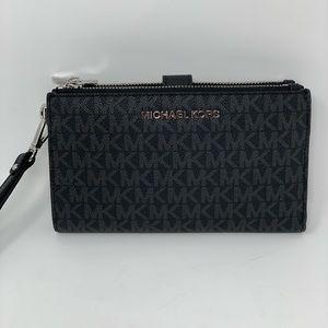 Michael kors double zipper wristlet/wallet ph case